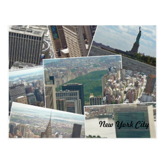 New York City Manhattan Multiview Postcard