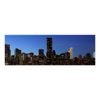 New York City Manhattan Night Poster