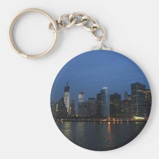 New York City Manhattan Night Skyline Key Chain