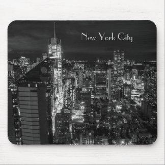 New York City Manhattan Night Skyline Mouse Pads