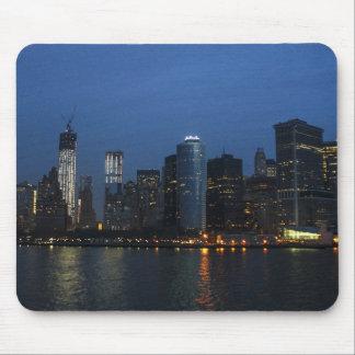 New York City Manhattan Night Skyline Mousepads