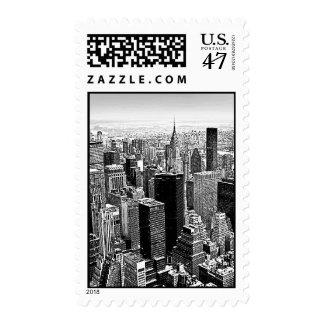 New York City Manhattan Panorama Postage Stamp