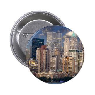 New York City Manhattan Pin Redondo De 2 Pulgadas