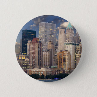 New York City Manhattan Pinback Button