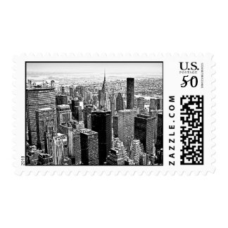 New York City Manhattan Postage Stamp