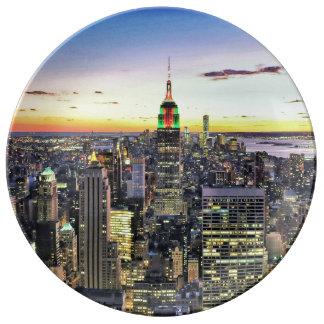 New York City Manhattan Skyline Dinner Plate