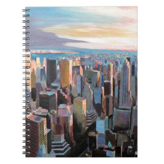 New York City  Manhattan Skyline In Warm Sunlight Note Books