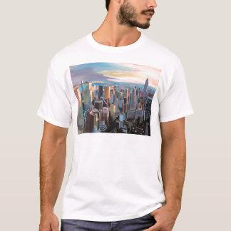 New York City  Manhattan Skyline In Warm Sunlight T-Shirt