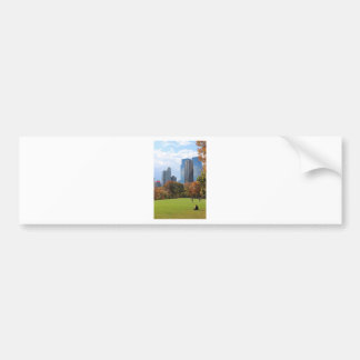 New York City Manhattan skyline panorama viewed fr Car Bumper Sticker