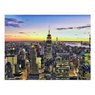 New York City Manhattan Skyline Postcard