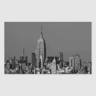 New York City Manhattan Skyline Rectangular Sticker