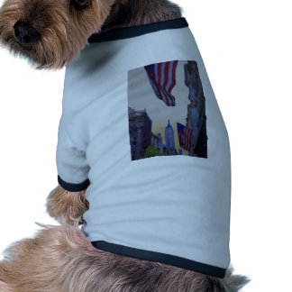 New York City - Manhattan Stars And Stripes Doggie T Shirt