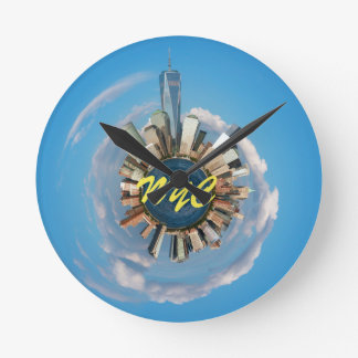 New York City Manhattan Stunning! Round Clock