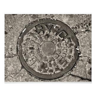 New York City Manhole Cover Photo Print