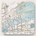New York City Map, 1728 Drink Coaster