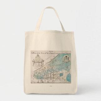 New York City Map, 1728 Tote Bag