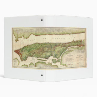 New York City Map During Revolutionary Map 1878 3 Ring Binder