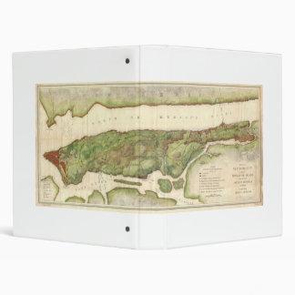 New York City Map During Revolutionary Map 1878 3 Ring Binder