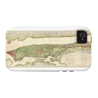New York City Map During Revolutionary Map 1878 iPhone 4/4S Case