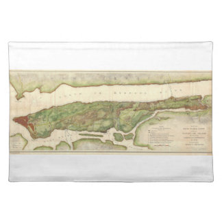 New York City Map During Revolutionary Map 1878 Cloth Placemat