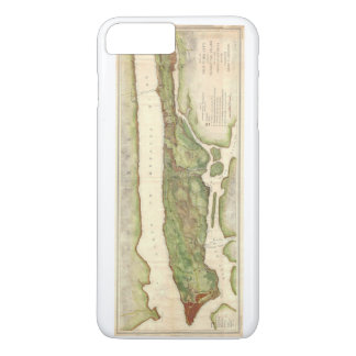 New York City Map During Revolutionary Map 1878 iPhone 7 Plus Case
