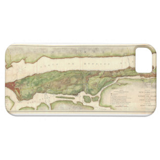 New York City Map During Revolutionary Map 1878 iPhone SE/5/5s Case