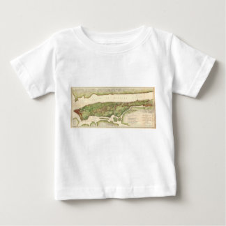 New York City Map During Revolutionary Map 1878 Tee Shirt