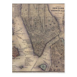 New York City Map Post Cards