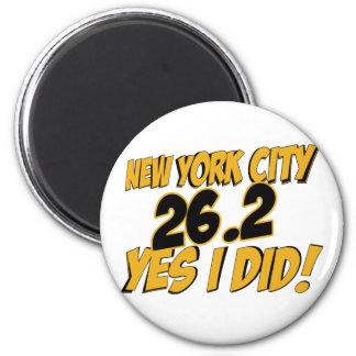 New York City Marathon 2 Inch Round Magnet