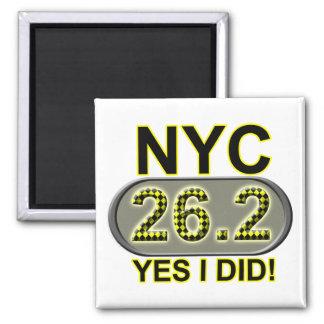 New York City Marathon 2 Inch Square Magnet
