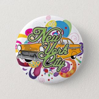 New York City Mash-Up Pinback Button