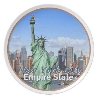 New York City Melamine Plate