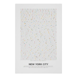 New York City - MetroDots Poster