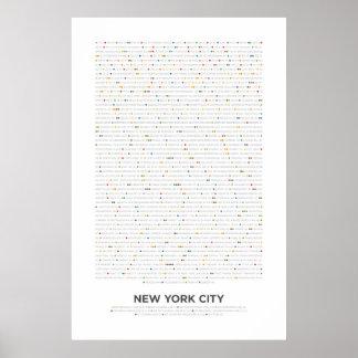 New York City - MetroDots Poster