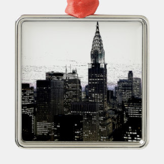 New York City Midtown Metal Ornament