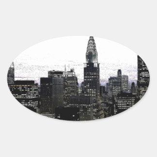 New York City Midtown Oval Sticker