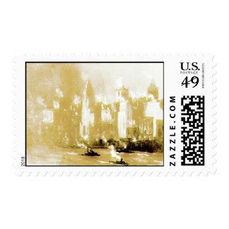 New York City Mist and Steam 1880 Stamp