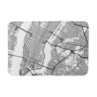 New York City Bath Mats Rugs Zazzle - New york city map drawing