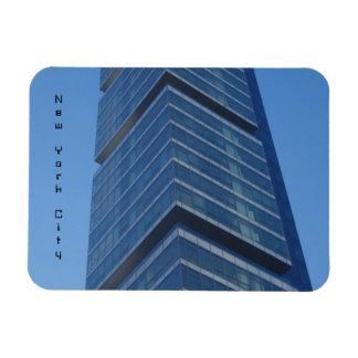 new york city modern rectangular photo magnet