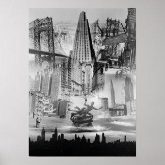 New York City Montage 1939 Poster