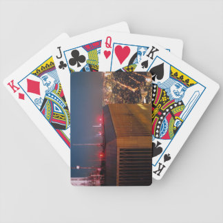 new york city moonlight world trade center bicycle playing cards