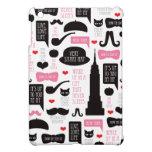 New York City mustache vintage pattern ipad mini iPad Mini Covers