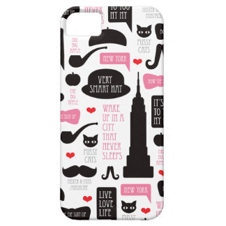 New York City mustache vintage pattern iPhone SE/5/5s Case