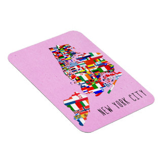 New York City Nations Flags Flexi Magnet