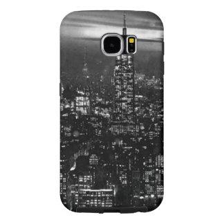New York City negro y blanco Fundas Samsung Galaxy S6