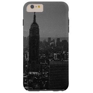 New York City negro y blanco Funda De iPhone 6 Plus Tough