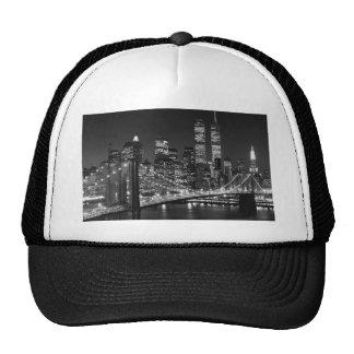 New York City negro y blanco Gorro