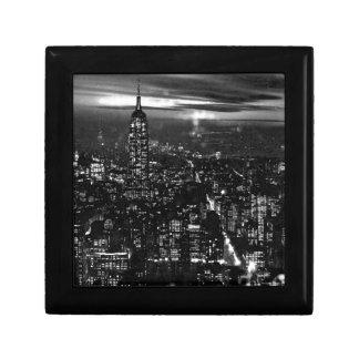 New York City negro y blanco Cajas De Recuerdo