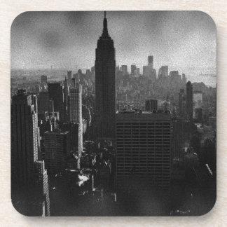 New York City negro y blanco Posavasos