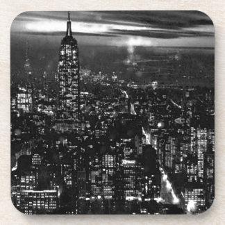 New York City negro y blanco Posavasos De Bebidas